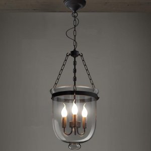 Leticia 3-light Clear Glass 12-inch Chandelier with Bulbs