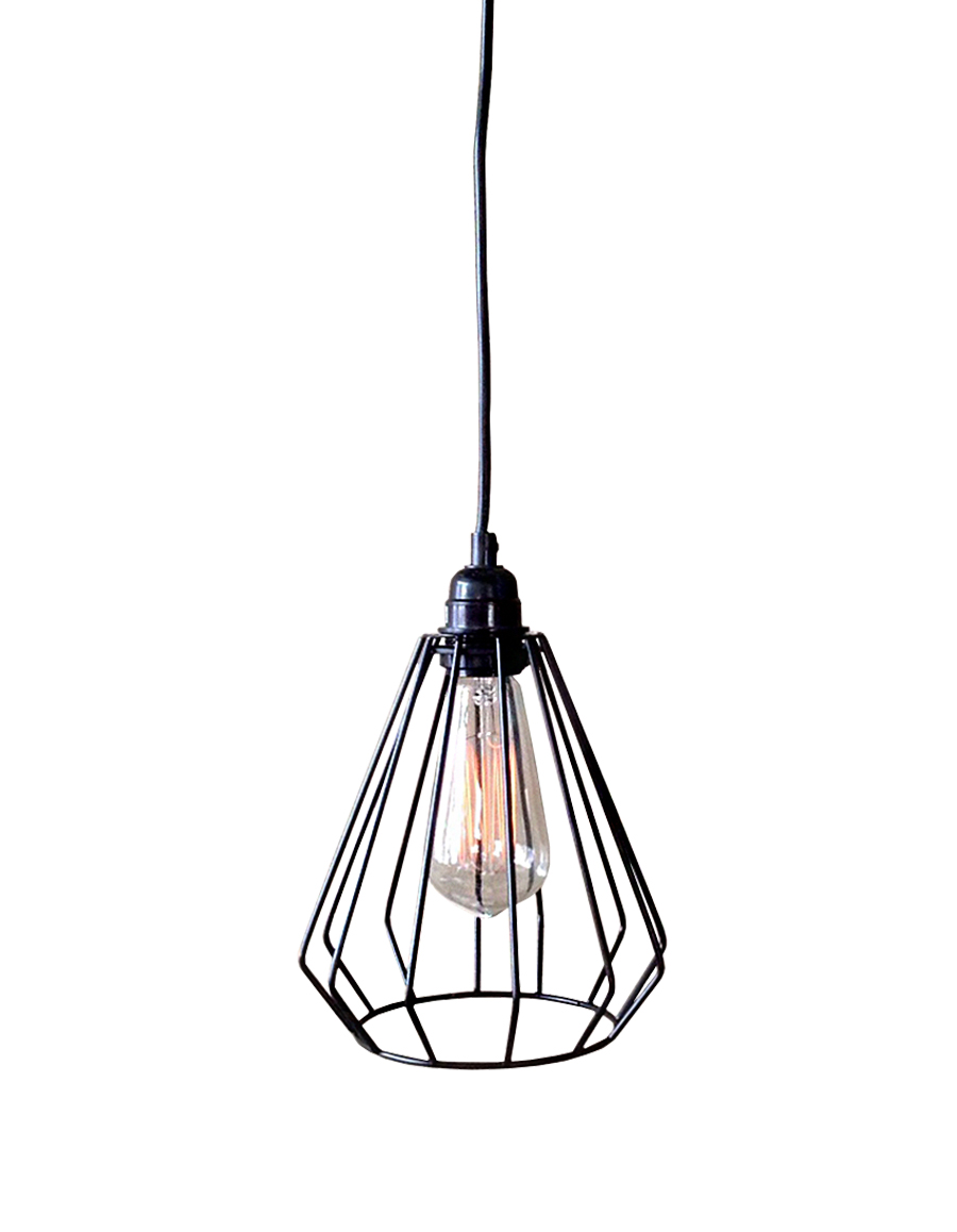 Lainie 1-light Black Adjustable Cord 7-inch Edison Pendant Lamp with Bulb