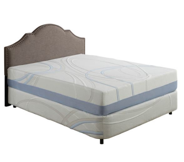 "12"" Full Charcoal and Gel Infused Memory Foam Mattress"