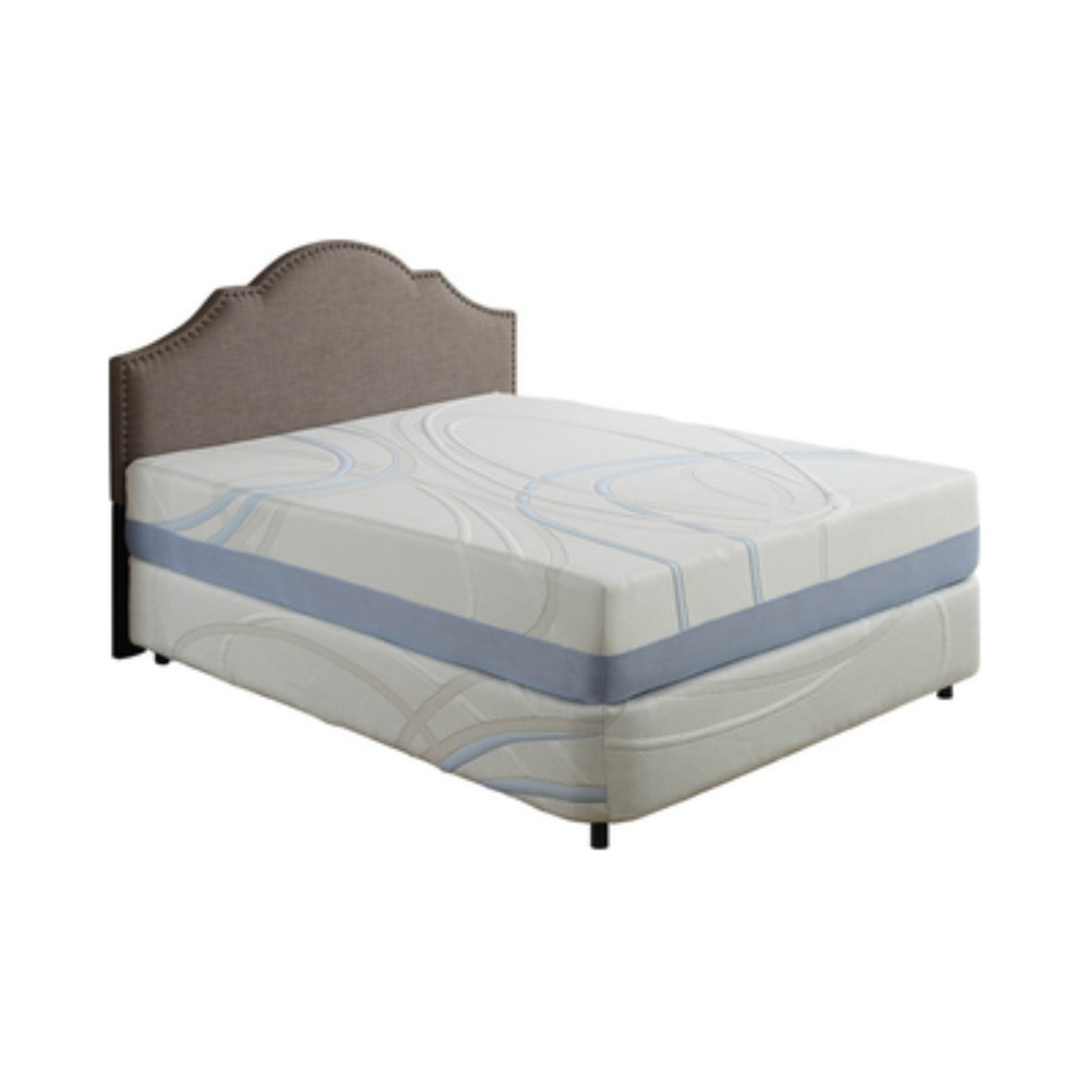 "12"" Eastern King Charcoal and Gel Infused Memory Foam Mattress"