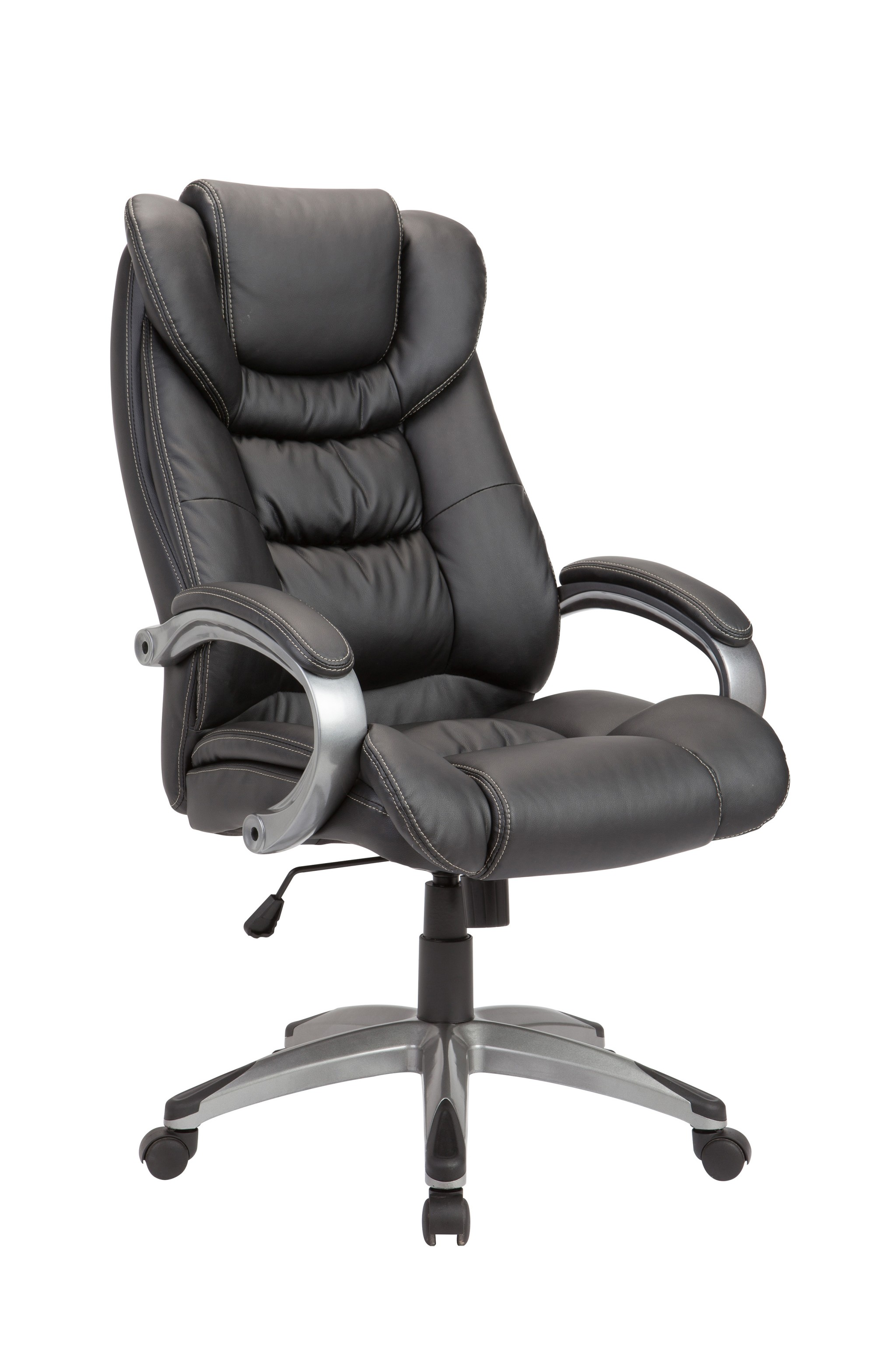 Black Pu Swivel Adjustable Powder Coated Office Chair