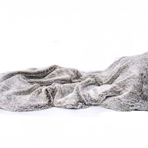 Cozy Gray Faux Fur Throw Blanket