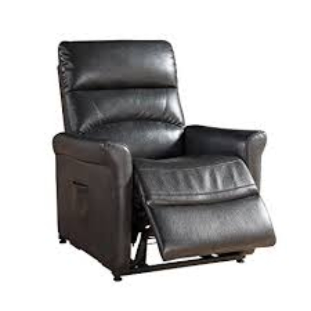 Charcoal Contemporary Select Hardwood Power Reclining Lift Chair