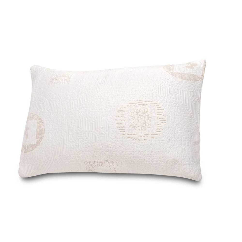 "5.5"" Green Tea Infused Polyester Memory Foam Queen/Standard Pillow"
