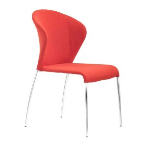 "18.5"" X 24.4"" X 34.8"" 4 Pcs Tangerine Polyblend Dining Chair"