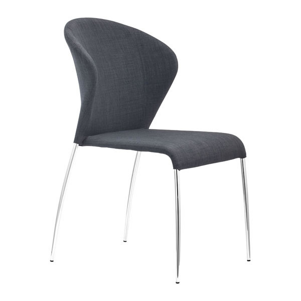 "18.5"" X 24.4"" X 34.8"" 4 Pcs Graphite Dining Chair"