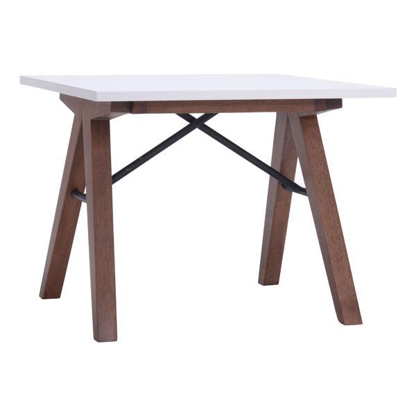 "19.7"" X 17.9"" X 18.5"" Walnut Wood Side Table"
