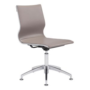 """26"""" X 26"""" X 36"""" Taupe Leatherette Conference Chair"""