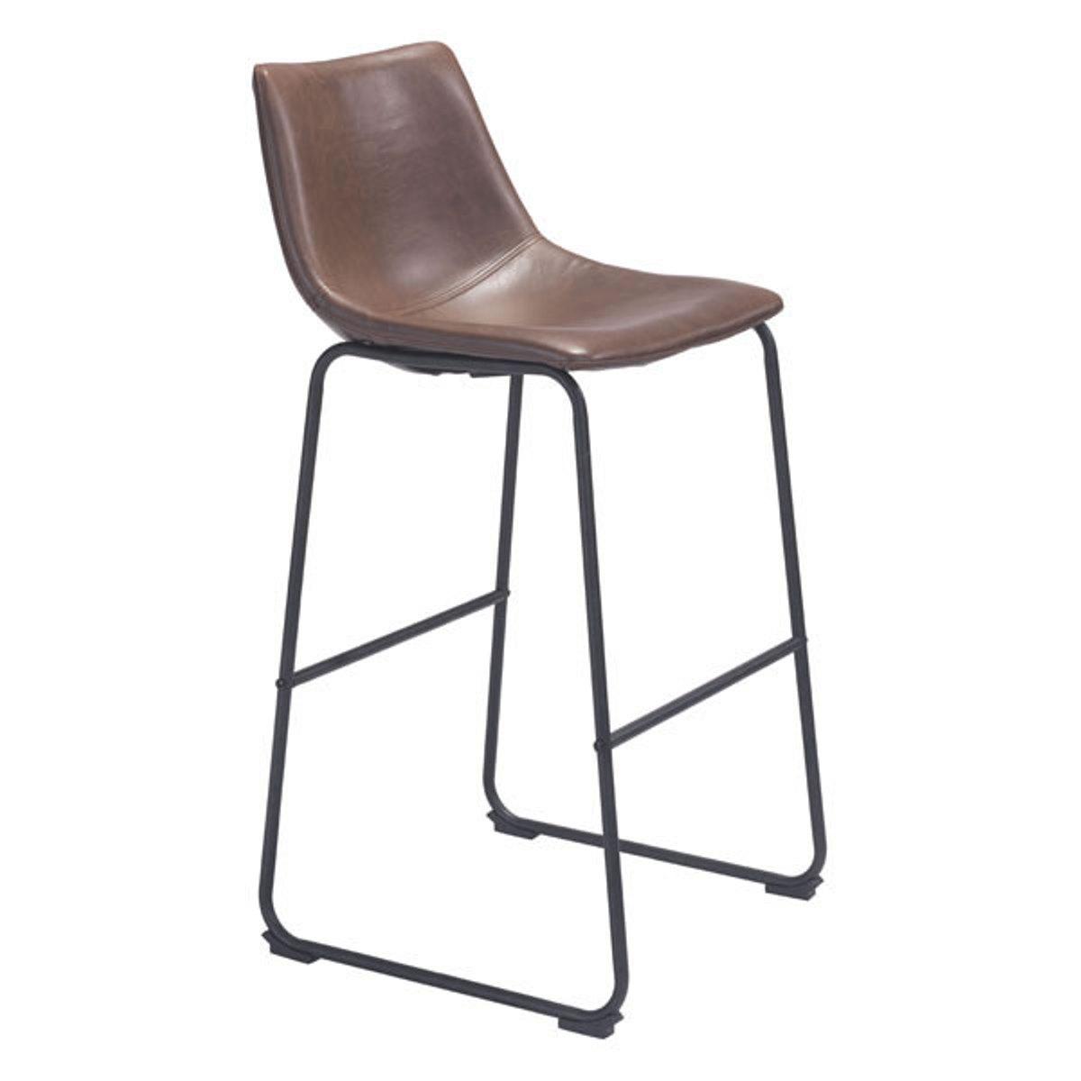 Bar Chair Vintage Espresso - Leatherette Plywood, Metal