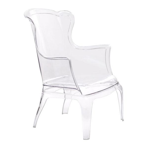 """28.3"""" X 30.5"""" X 38"""" Transparent Polycarbonate Chair"""