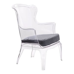Black and White Houndstooth Seat Cushion
