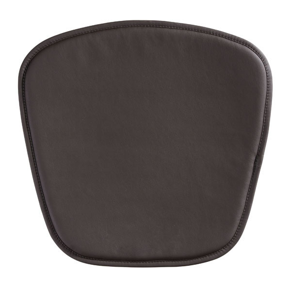"17"" X 17"" X 0.5"" Espresso Leatherette Wire Mesh Cushion Chair"
