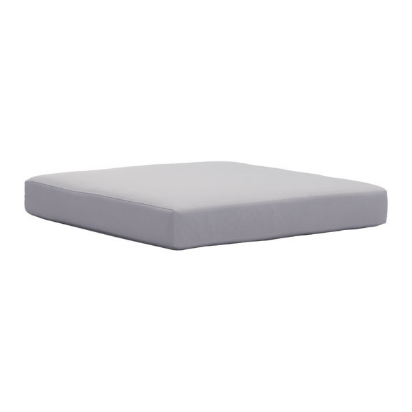 "30.3"" X 30.3"" X 3.9"" Light Gray Cushion Beach Seat"