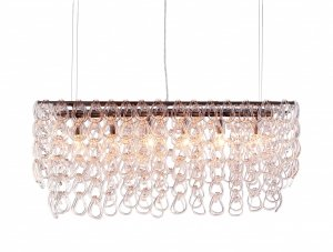 Clear Glass Hanging Baubles Chandelier