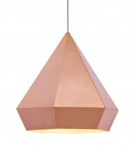Rose Gold Geo Diamond Pendant Ceiling Lamp