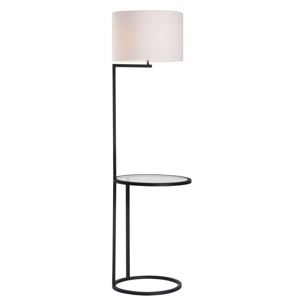 """15"""" X 15"""" X 14"""" Brushed Brass Griffith Floor Lamp"""