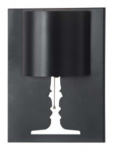 "11.8"" x 4.7"" x 15.7"" Black, Painted Metal, Wall Lamp"