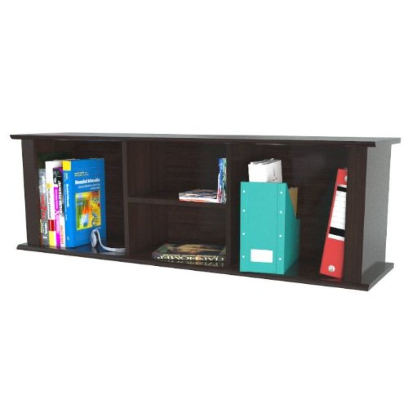 """15"""" Espresso Melamine and Engineered Wood Wall Mounted Hutch"""