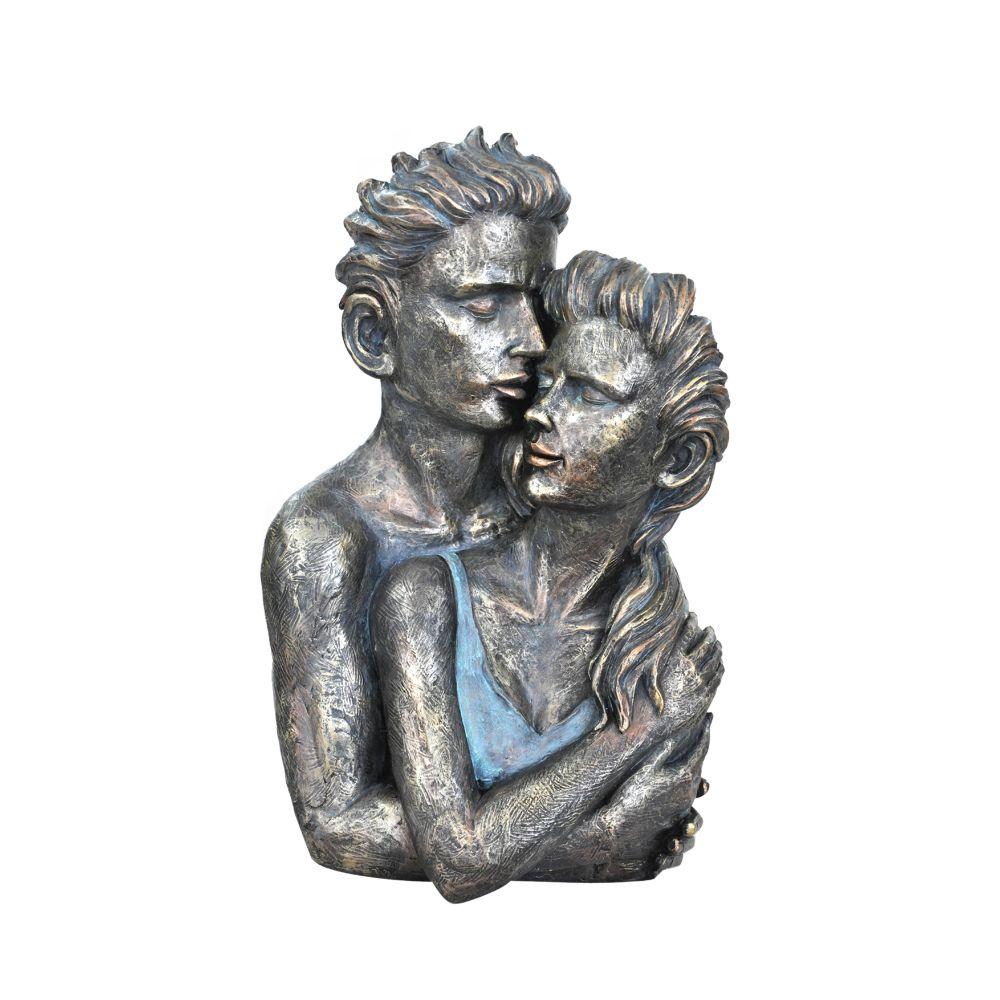 Beautiful Couple Statue Sculpture in Patina Finish