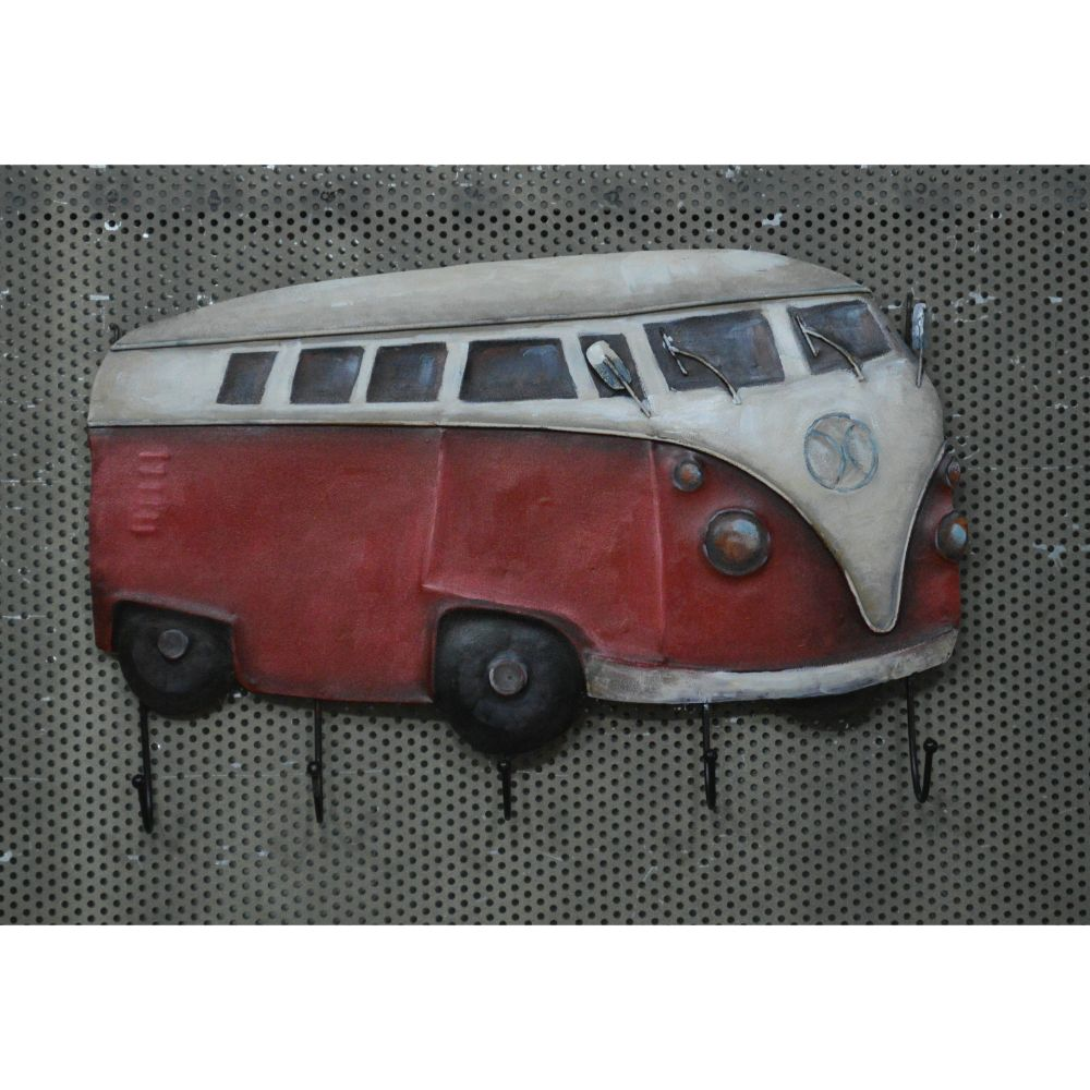 Rustic Red and White Van Wall Hooks