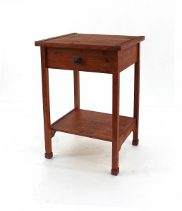 """15"""" x 18"""" x 24"""" Cherry 1 Drawer  Rustic Wooden - Accent Table"""