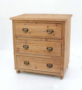 """15"""" x 30"""" x 30"""" Natural 3 Drawer Minimalist Loft Wood - Filing Cabinet"""