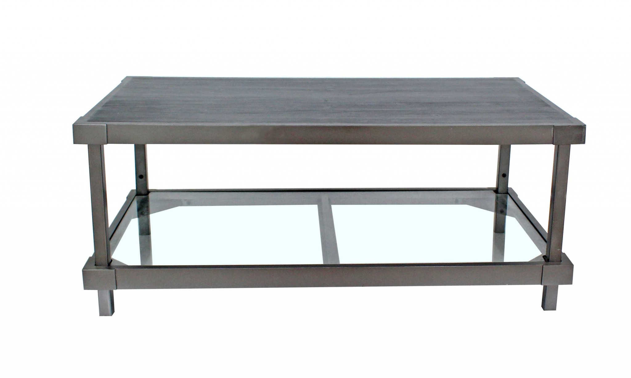 """18"""" X 24"""" X 44"""" Charcoal Industrial Hall Console Table"""