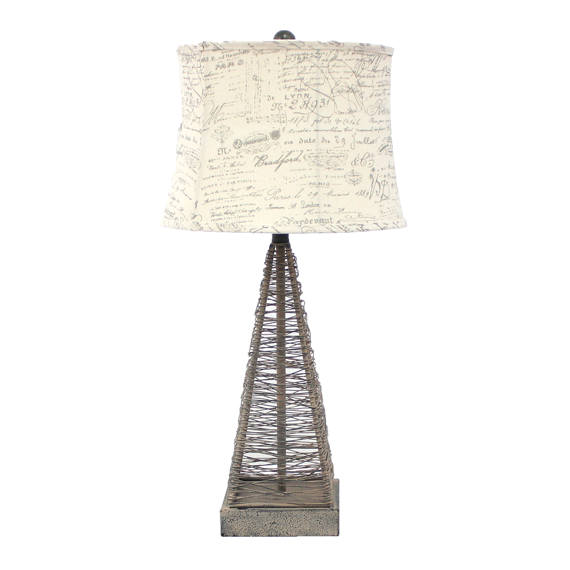 Oceantailer industrial metal table lamp with gentle linen shad aloadofball Image collections