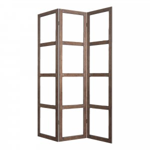 "1"" x 63"" x 84"" Brown Wood Glass  Screen"