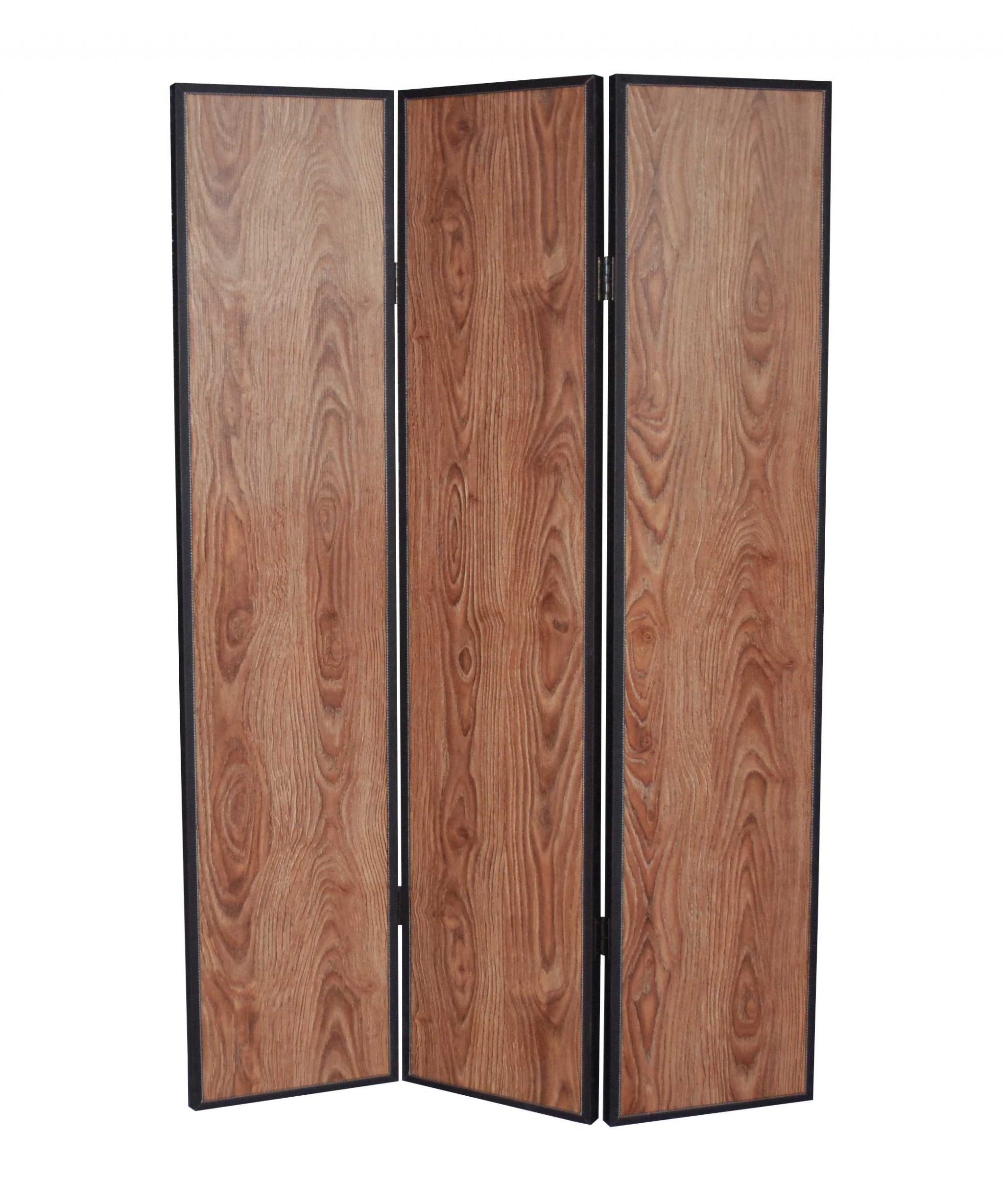 "71"" X 47"" Brown Wood Screen"