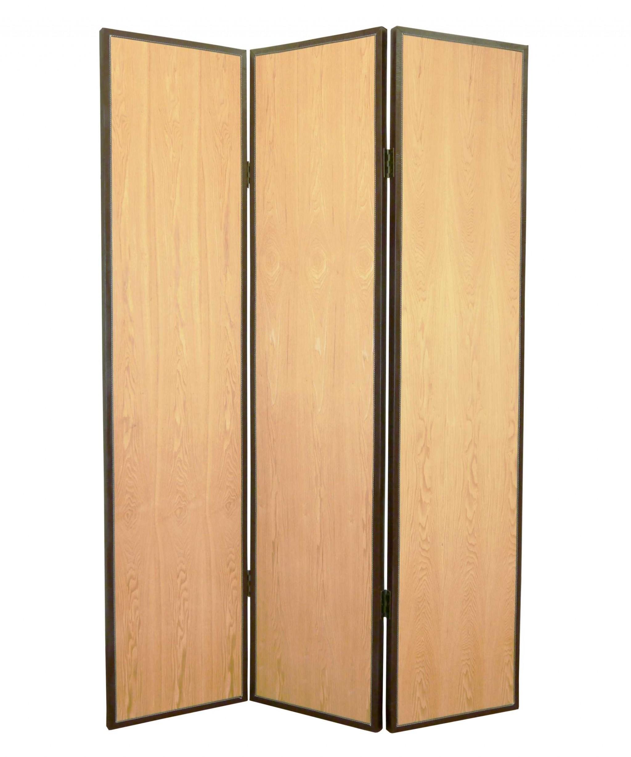 "71"" X 47"" Natural Wood Screen"