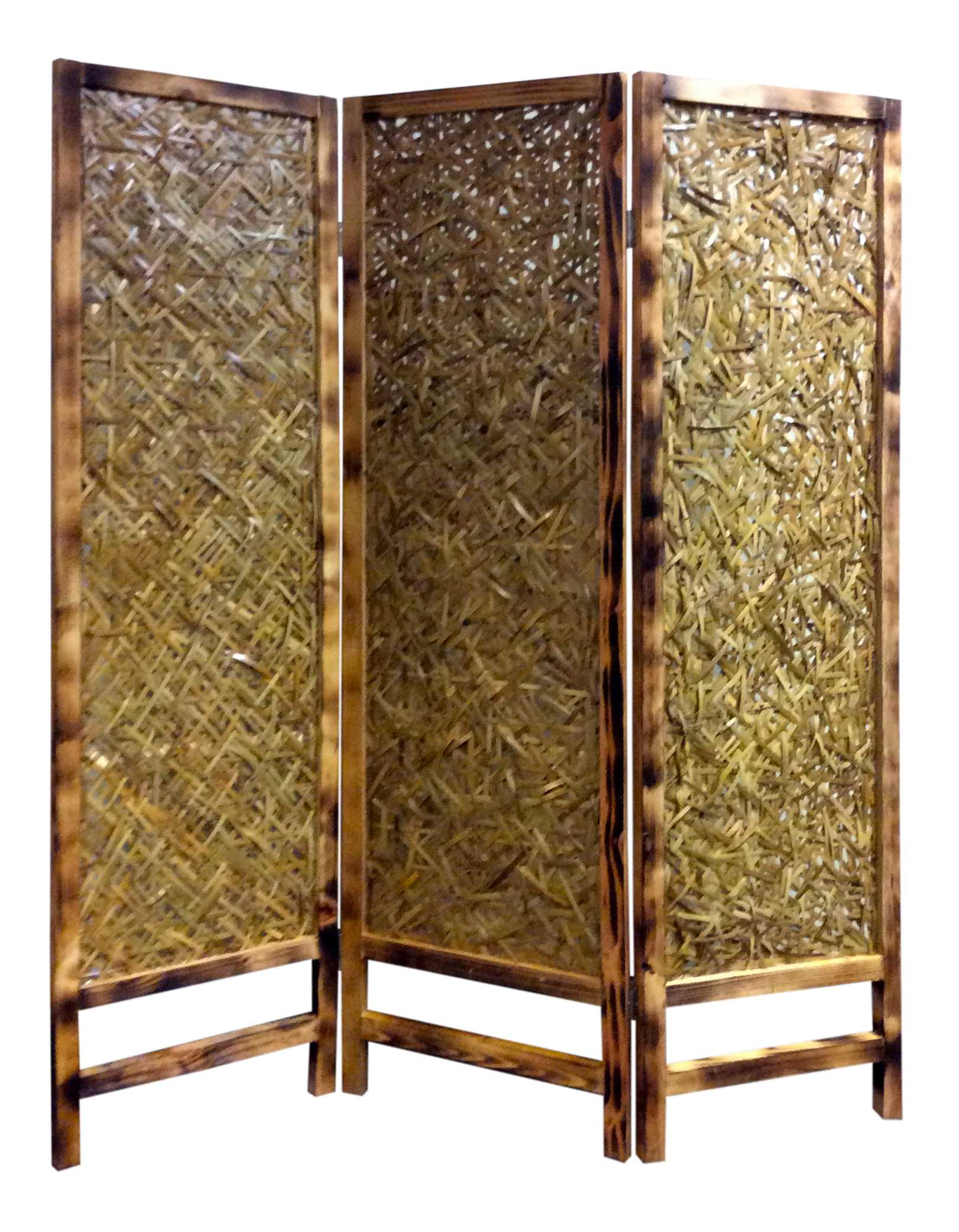 "69"" X 60"" Natural Wood Screen"