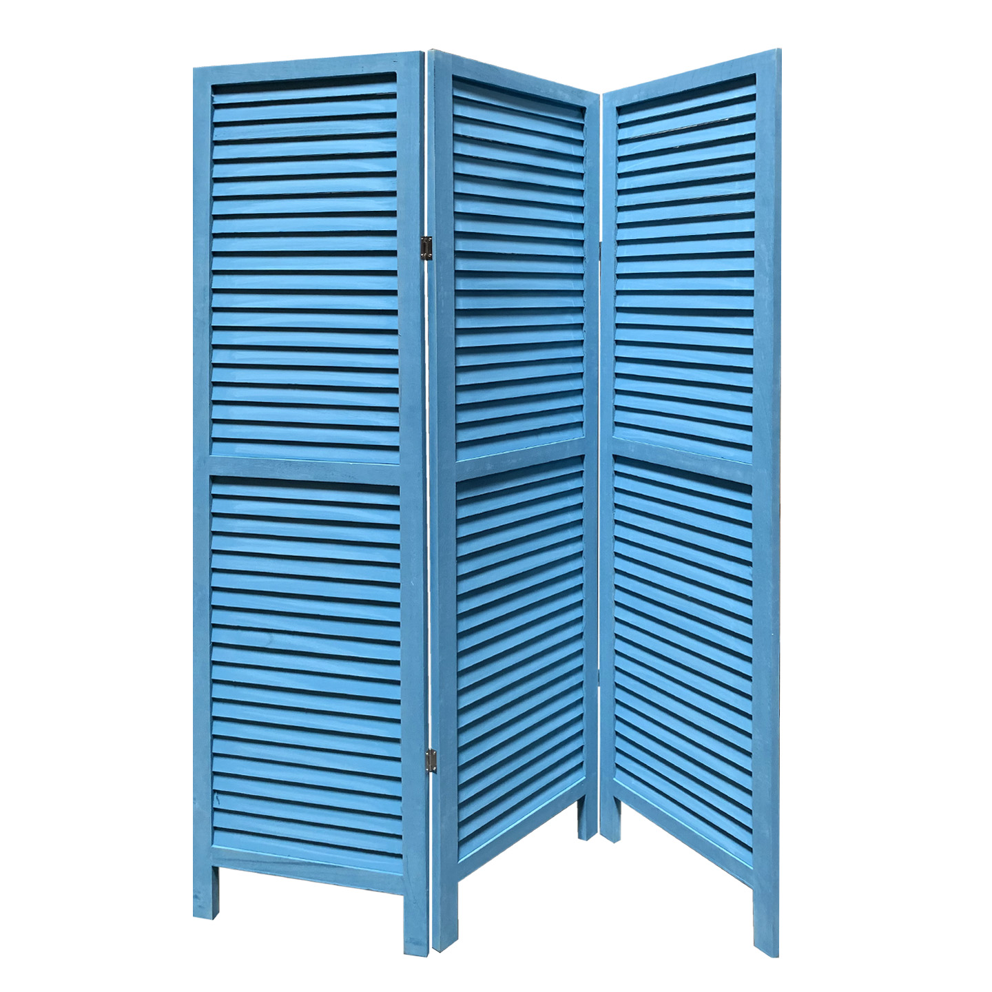 "48"" X 67"" Blue Wood Shutter Screen"