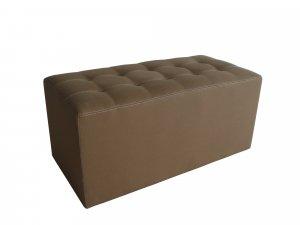 "1"" x 32"" x 16"" Tan, Wood, Canvas - Bench"