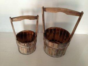 """""""10 x 10"""" Brown, Wood Garden Planter - 2 Piece"""