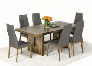 """30"""" White Wash Oak Veneer Dining Table"""
