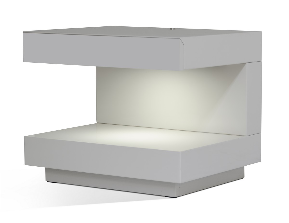 Modern Grey Nightstand