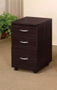 Espresso 3 Drawer File Cabinet