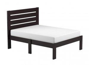 Popular Espresso Full Size Slat Wood Bed