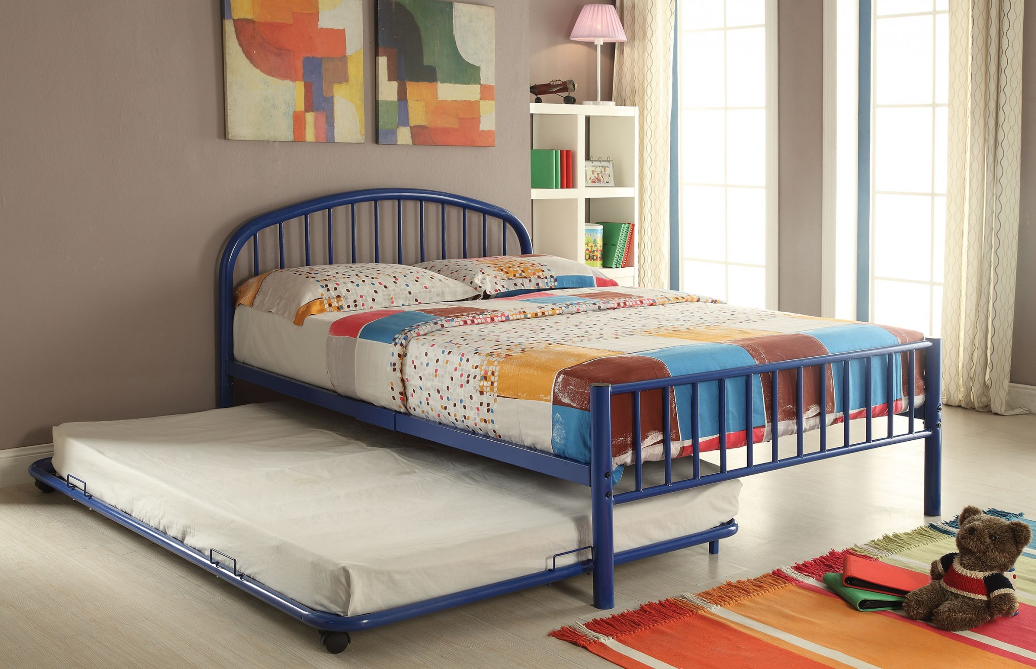 Trundle (Twin), Blue - Metal Tube Blue