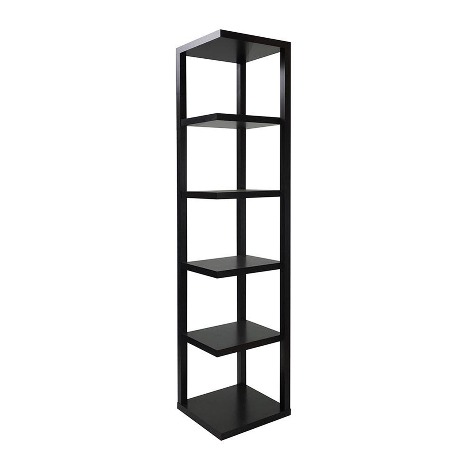 """15"""" X 15"""" X 73"""" Cappuccino Hollow Board With Paper Bookcase"""