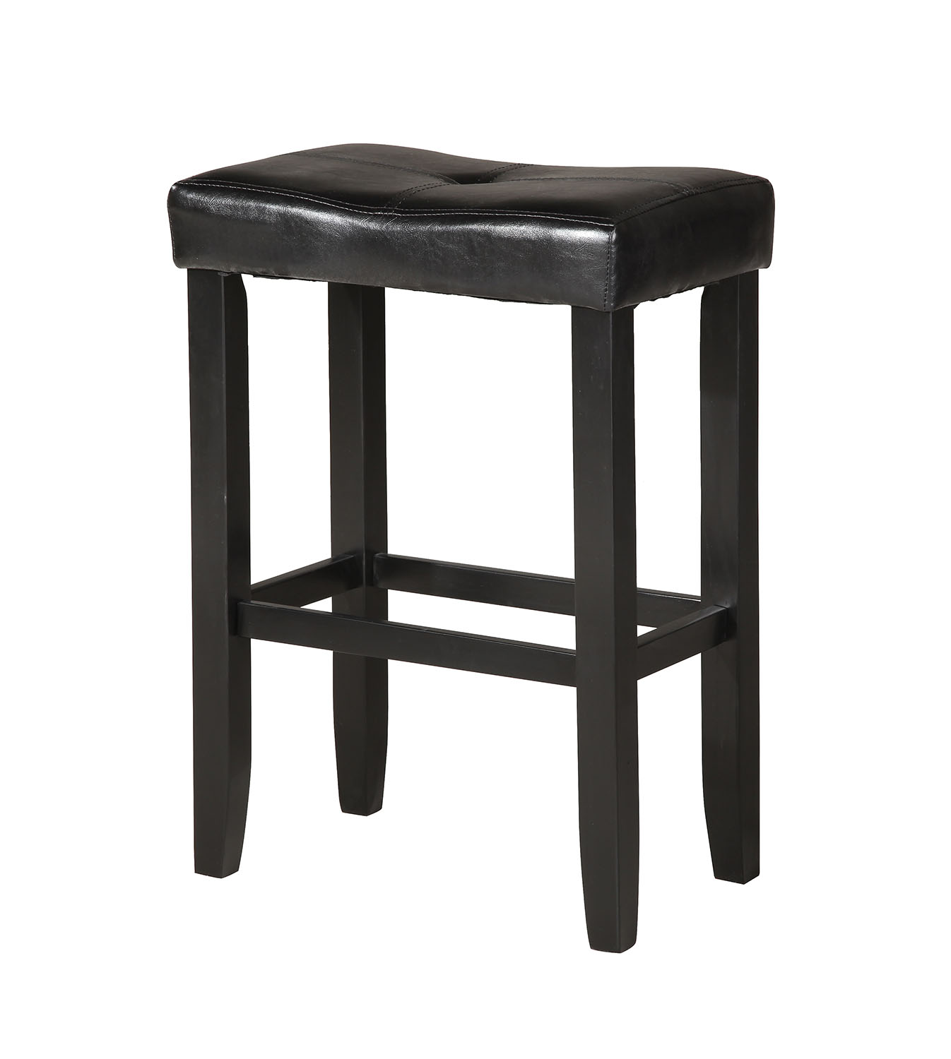 """21"""" X 14"""" X 24"""" 2pc Black And Black Swivel Counter Height Stool"""