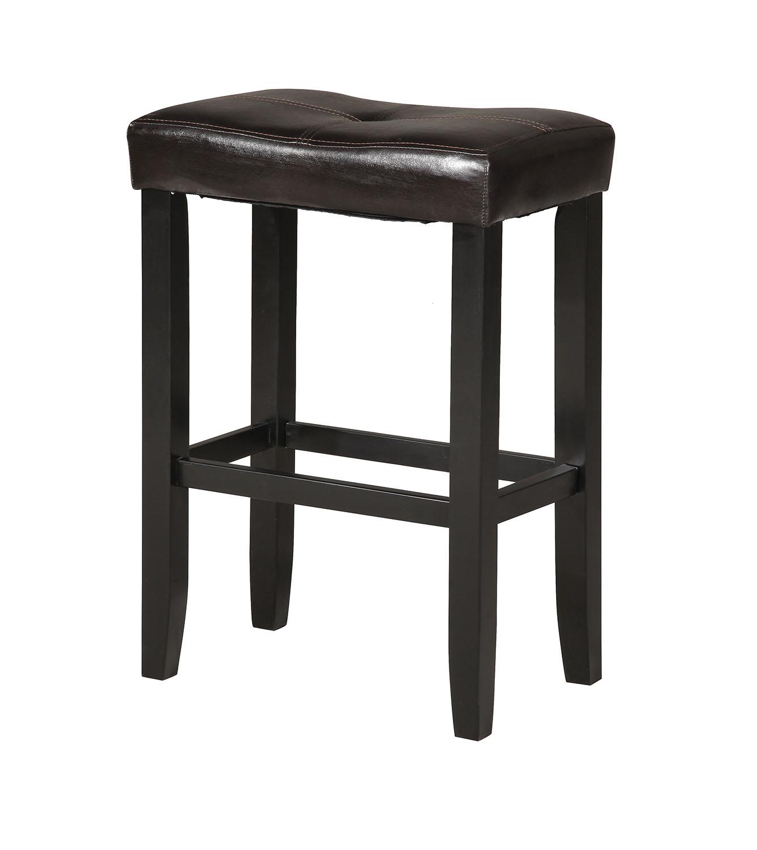 Counter Height Stool (Set-2), Espresso & Black