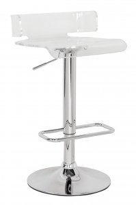 Clear And Chrome Swivel Adjustable Bar Stool