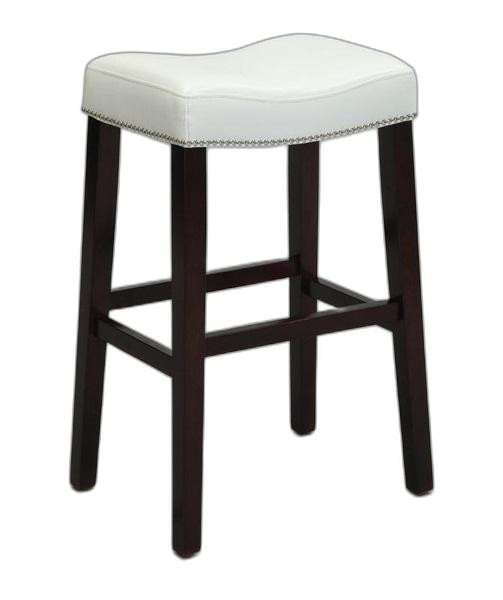 "19"" X 14"" X 26"" 2pc White And Espresso Swivel Counter Height Stool"