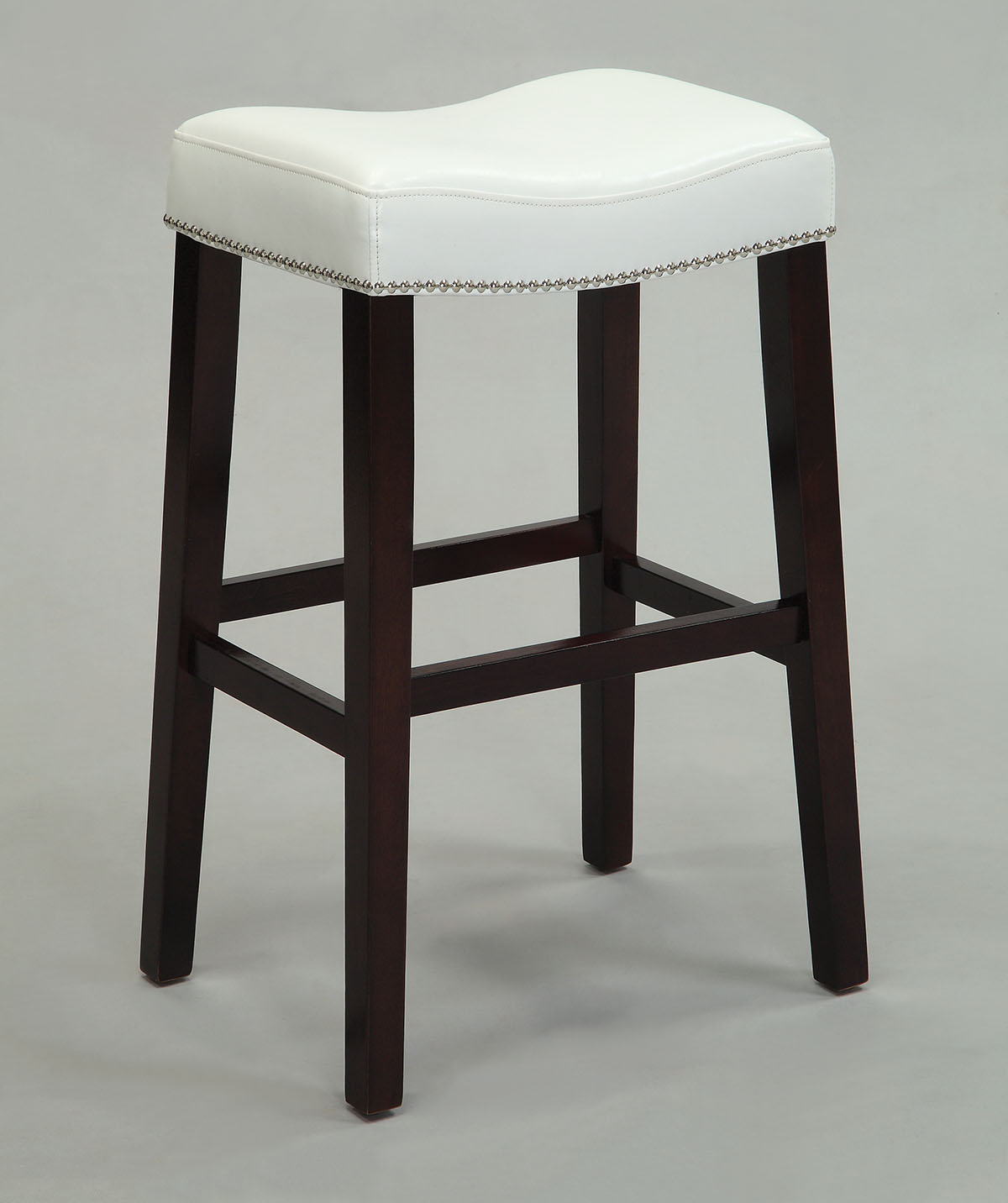 """19"""" X 14"""" X 26"""" 2pc Black And Espresso Swivel Counter Height Stool"""