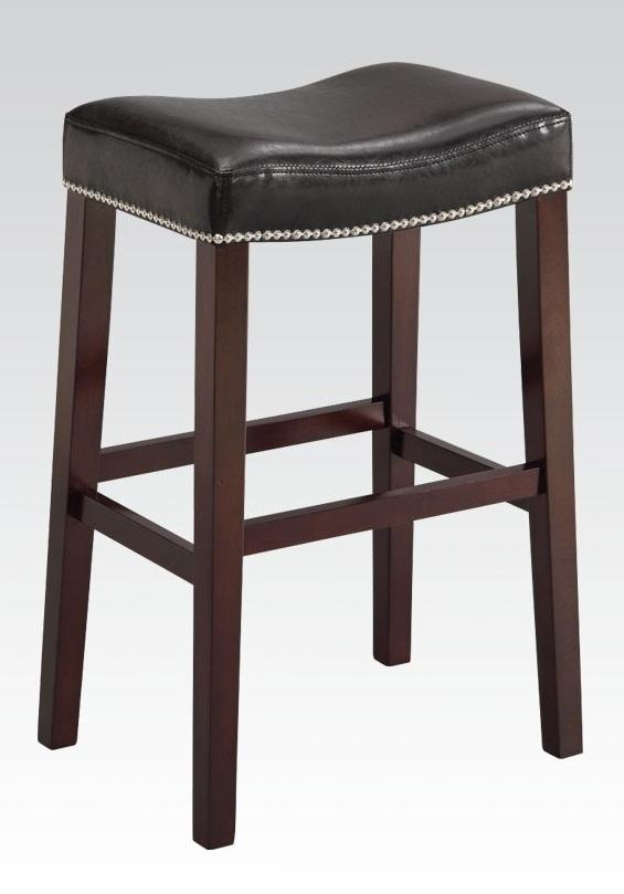 "19"" X 14"" X 26"" 2pc Black And Espresso Swivel Counter Height Stool"