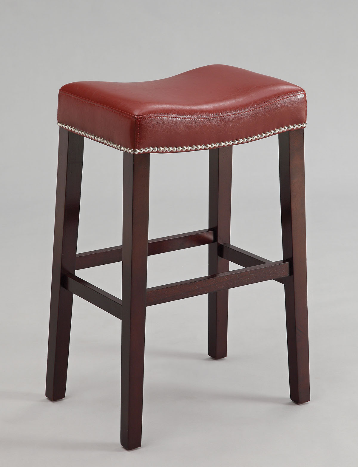 "20"" X 15"" X 30"" 2pc Red And Espresso Bar Stool"