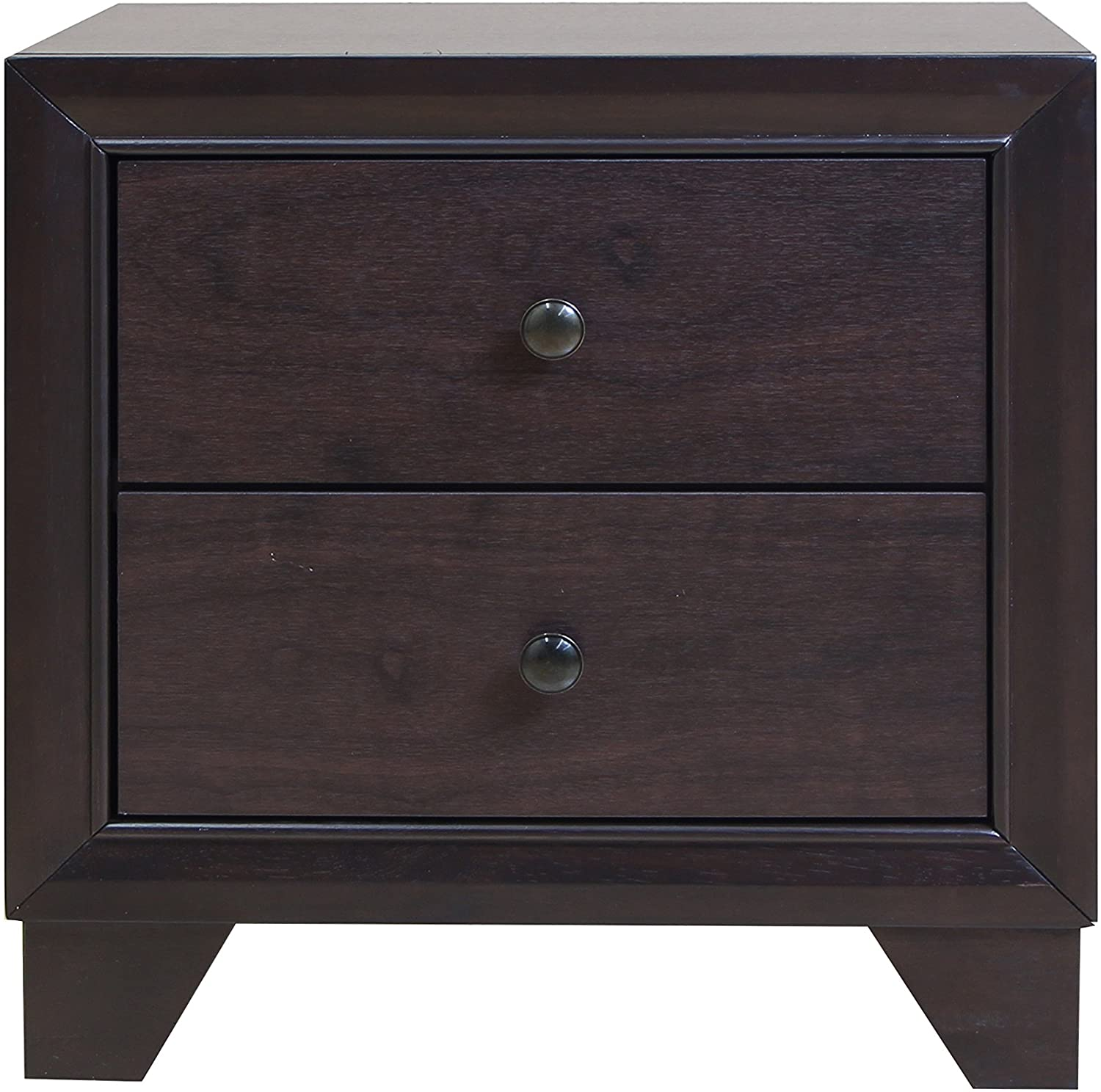 "22"" X 16"" X 22"" Espresso Rubber Wood Nightstand"