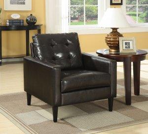 """30"""" X 30"""" X 33"""" Espresso Accent Chair"""